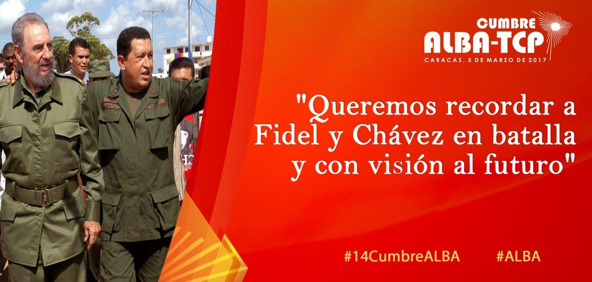 Fidel y Chávez, impulsores del ALBA-TCP