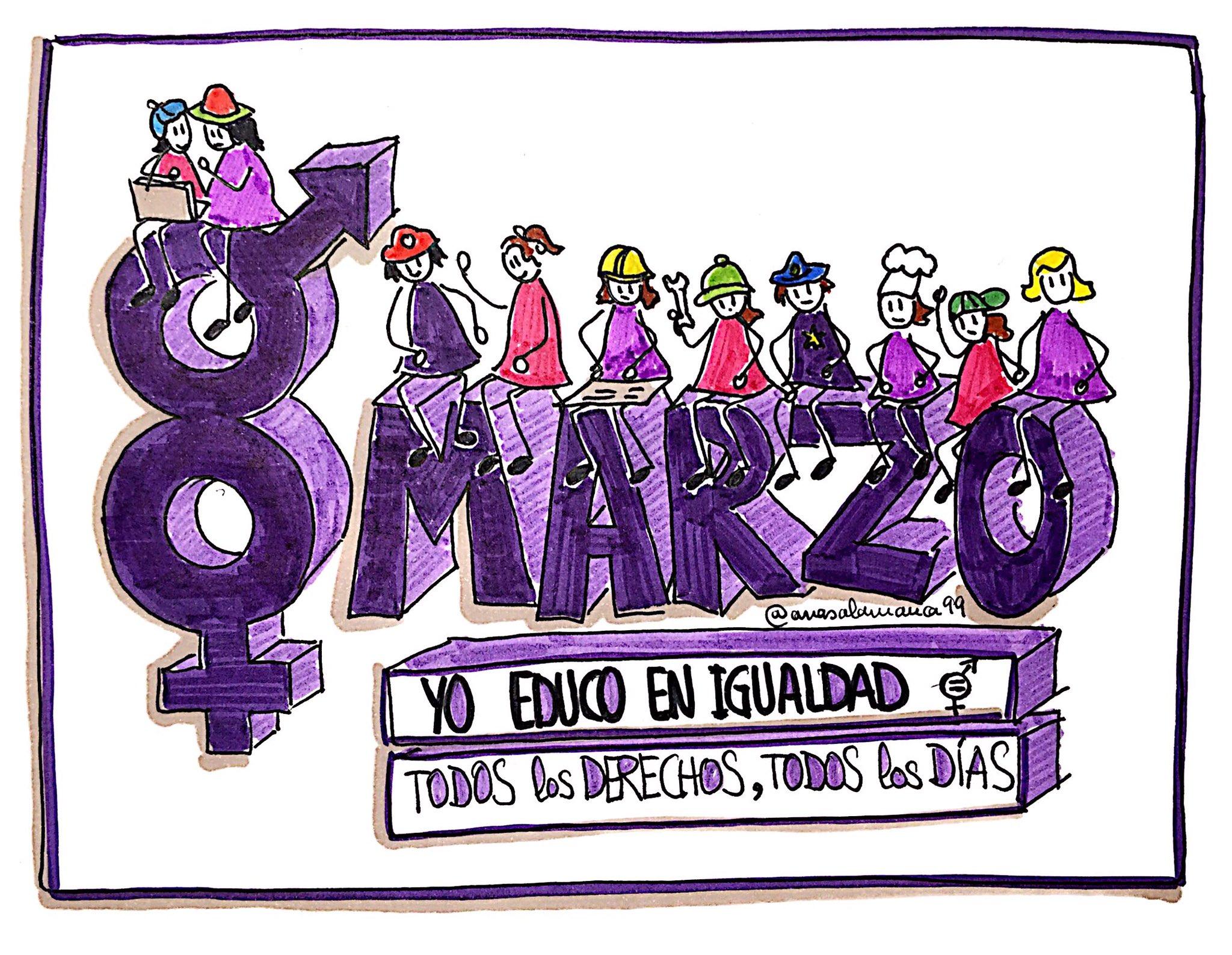 No podemos esperar todos los días son #8marzo #YoEducoEnIgualdad #dibujamelas https://t.co/W8ONvKAjLR