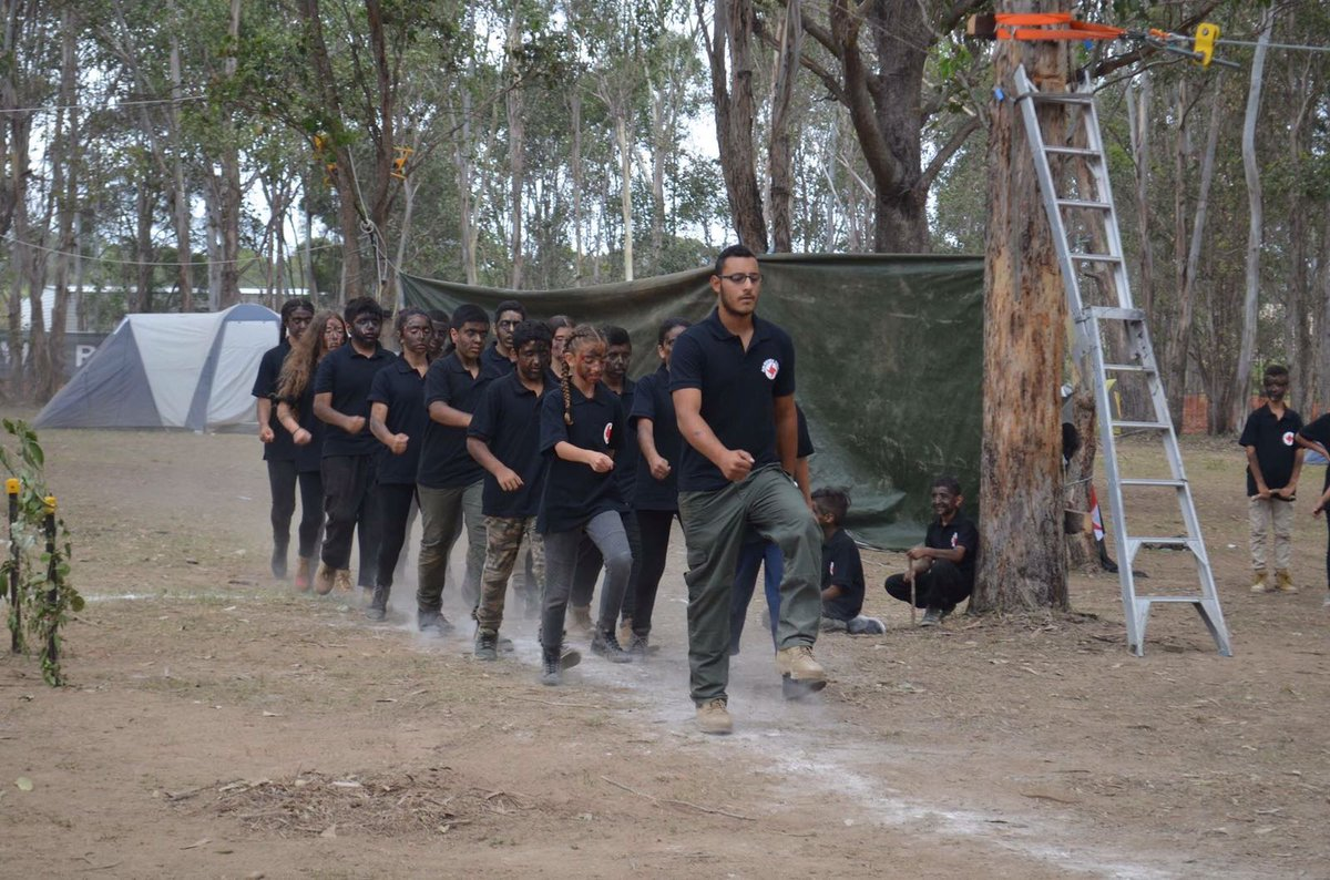 There's an Australian branch of the SSNP, an extreme Syrian far-right group, and they're drill training with kids in Sydney.