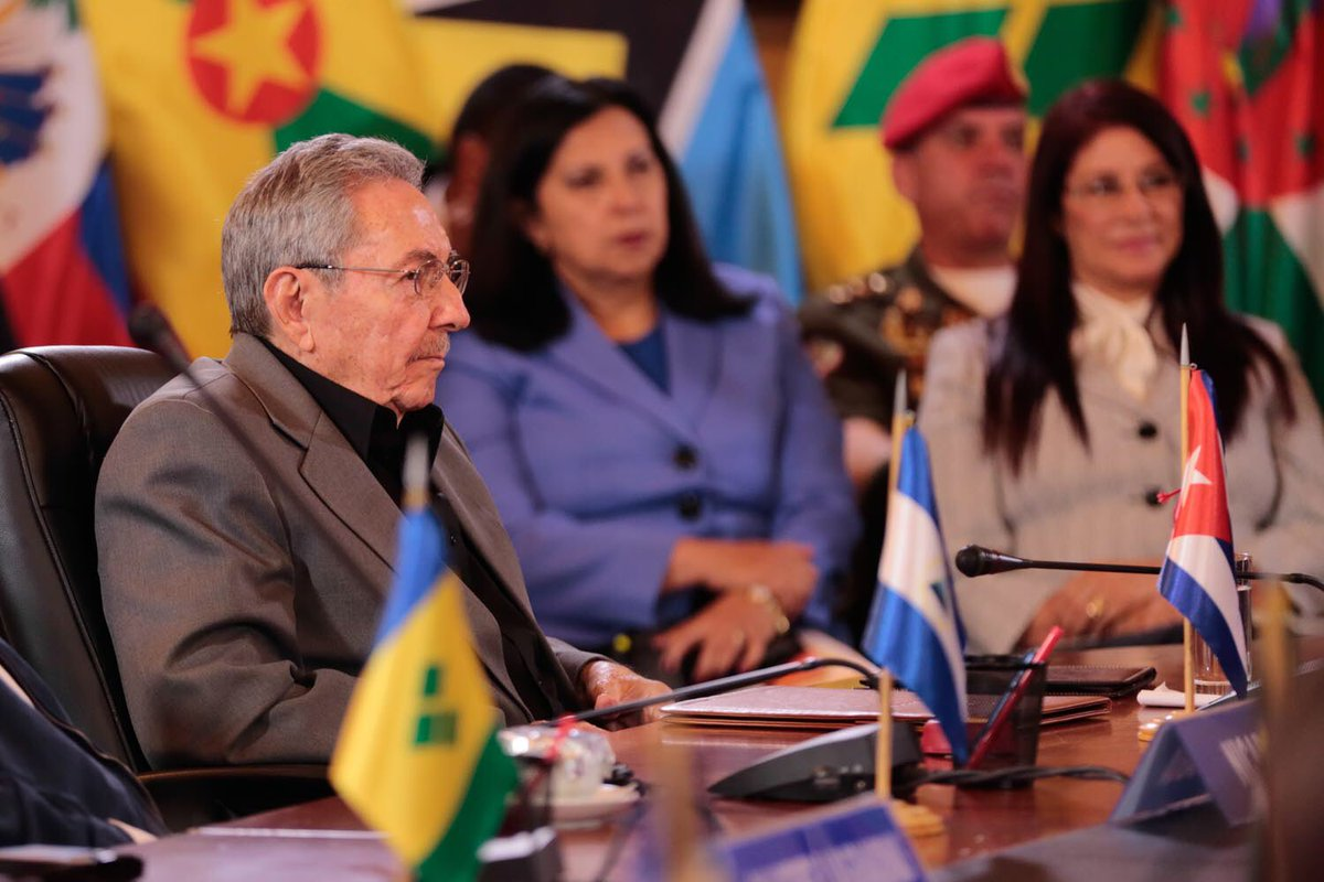 Raúl Castro en Cumbre del ALBA