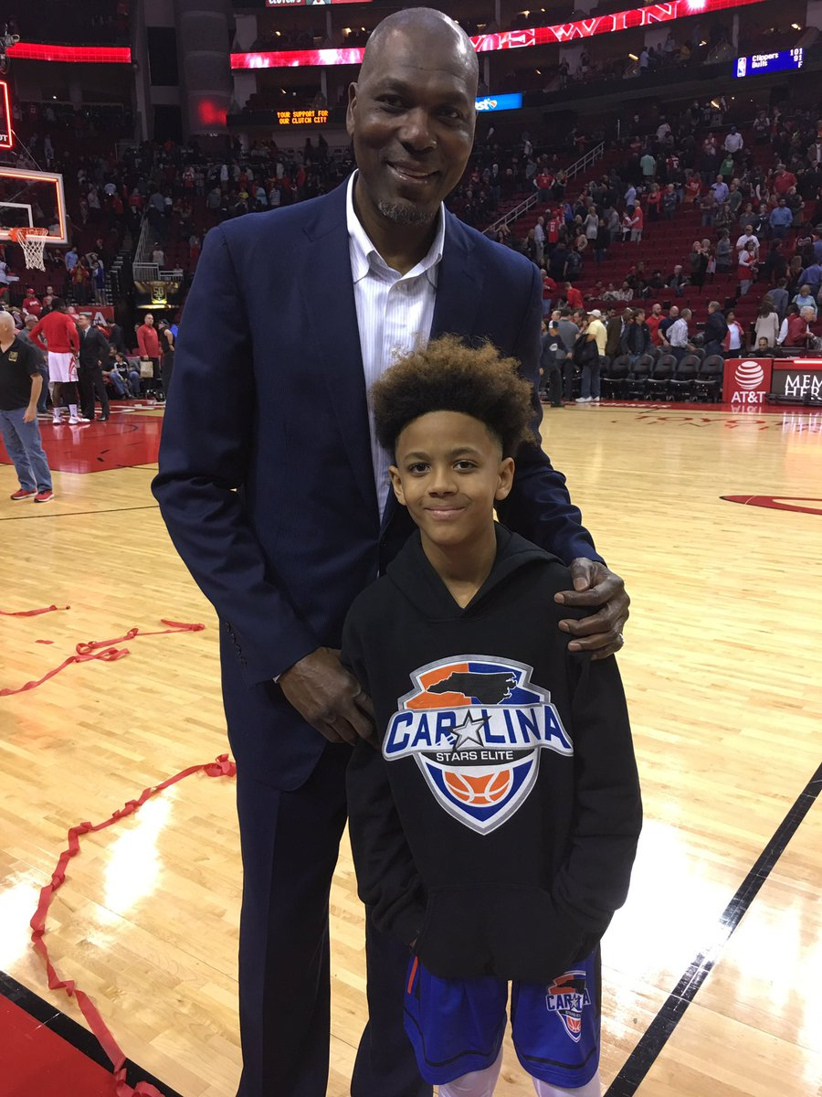"""Vernon Maxwell on Twitter """"My youngest Trey with some guy named"""