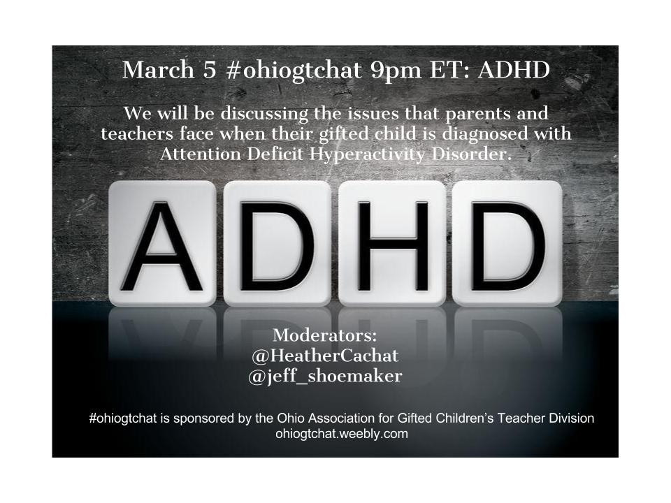Thumbnail for #ohiogtchat March 5: ADHD