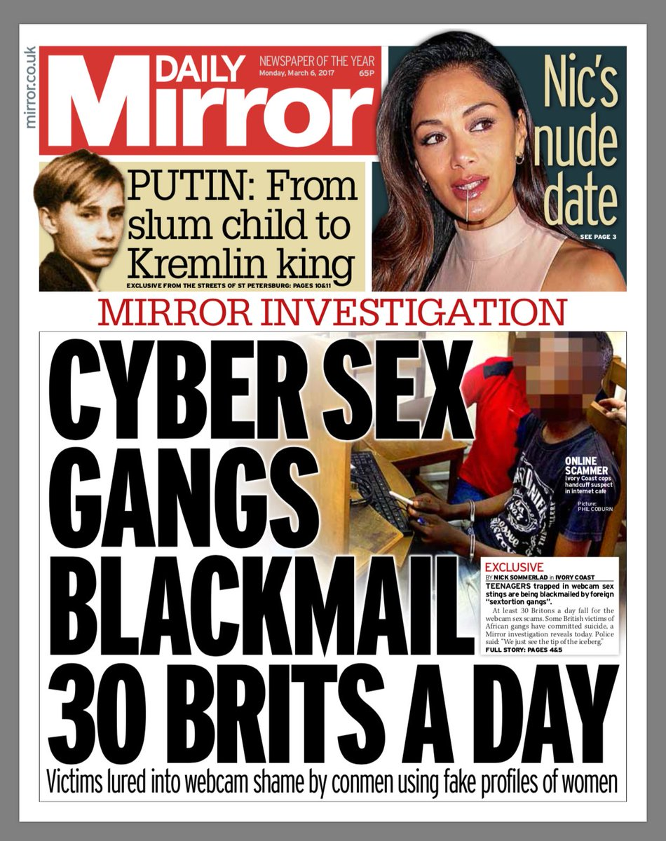 Cybersex blackmail