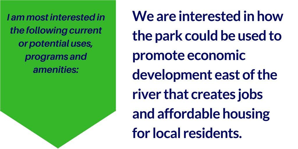 Anacostia Park as economic development driver, what 1 registrant prioritizes, is on the #shapeanacostiapark mtg tomorrow! https://t.co/eb08ttu3JJ