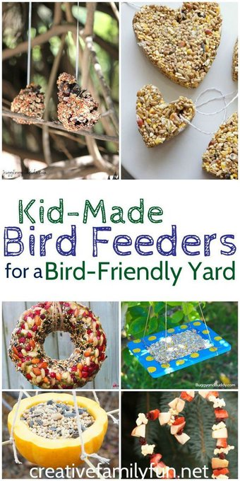 Kid-Made Bird Feeders for a Bird-Friendly Yard