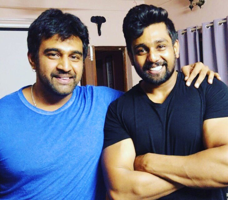 Here is the pic with @DhruvaSarja