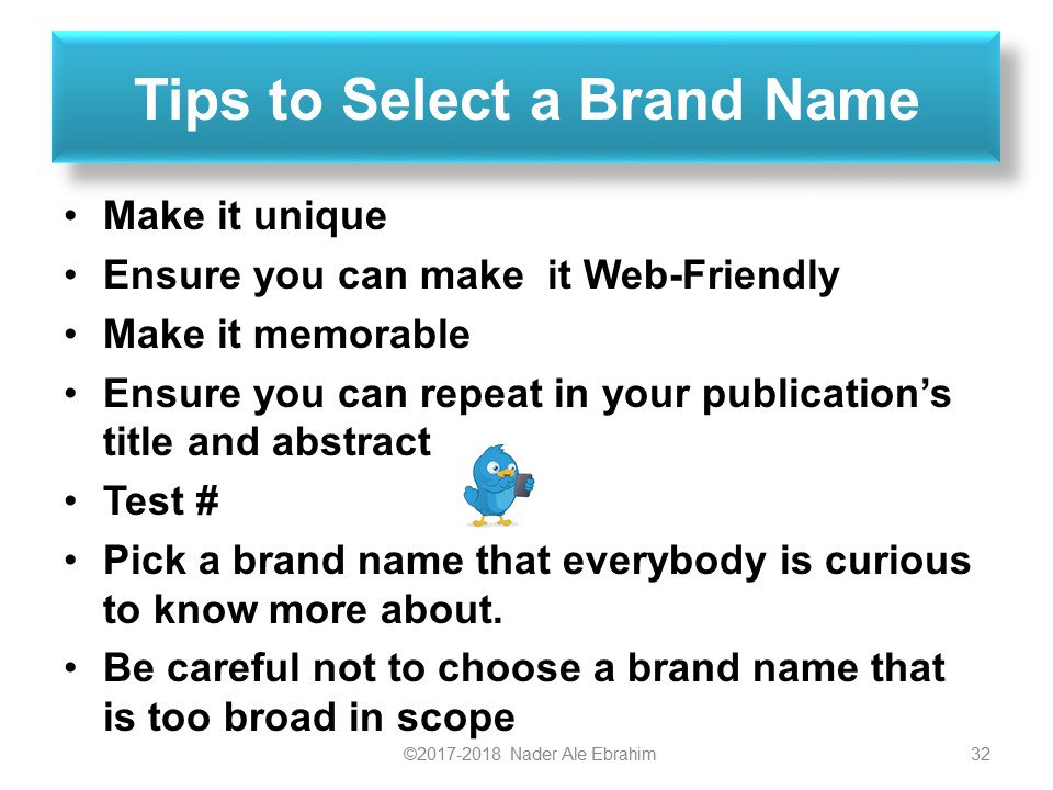 "How to select a ""Research Brand Name"". Tips to improve #ResearchVisibility & #ResearchImpact  https:// doi.org/10.6084/m9.fig share.4725574.v1   … <br>http://pic.twitter.com/ihOQX7Idhg"