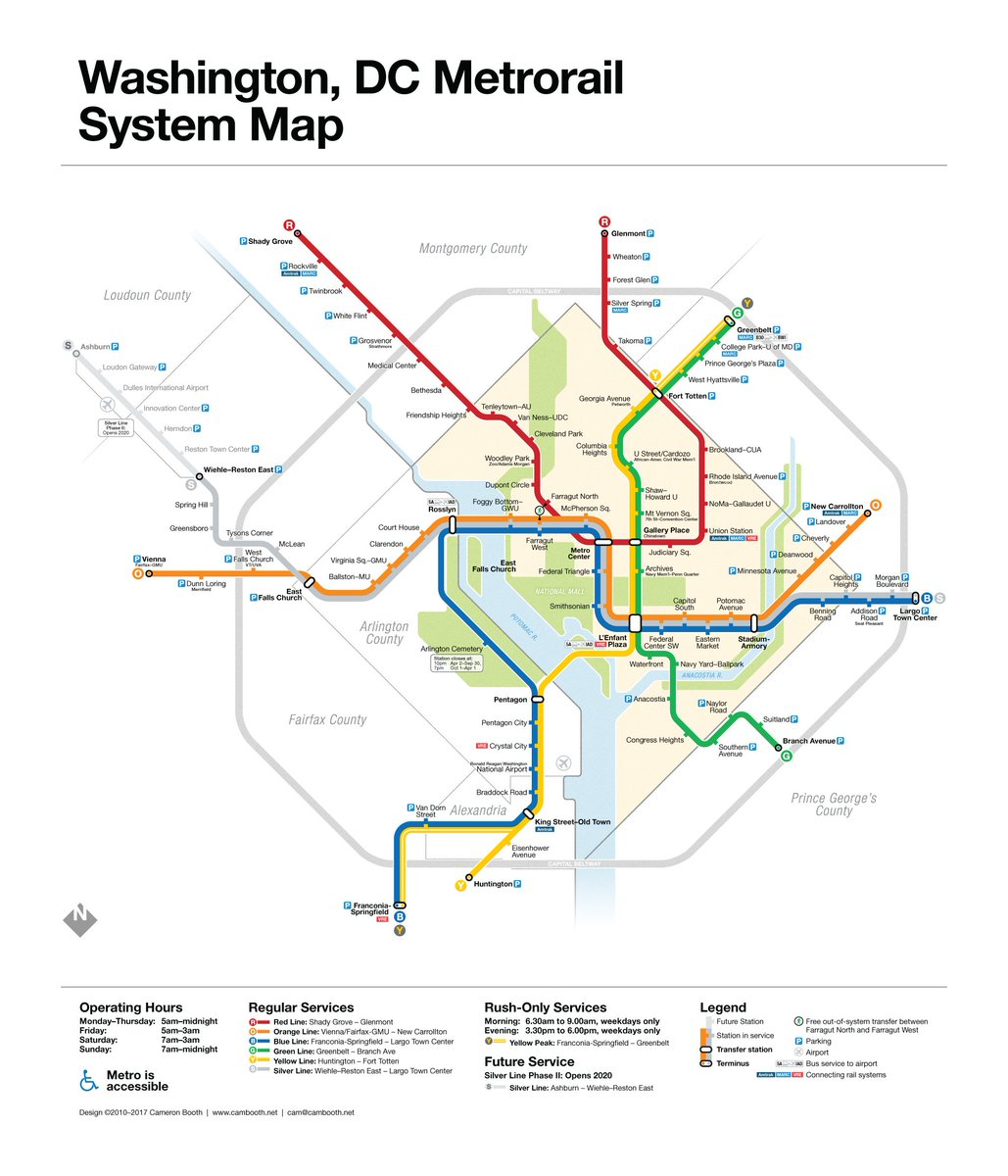 Dc Metro Map Silver Line on
