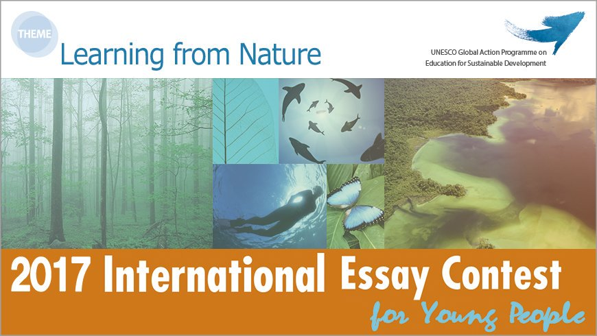 Unesco On Twitter Interested In Sustainabilitywriting  Unesco On Twitter Interested In Sustainabilitywriting Participate In  Youth Essay Contest  Learning From Nature Httpstcolywpyq  Gapesd  Examples Thesis Statements Essays also I Need To Get Someone To Write A Report  Term Paper Essays