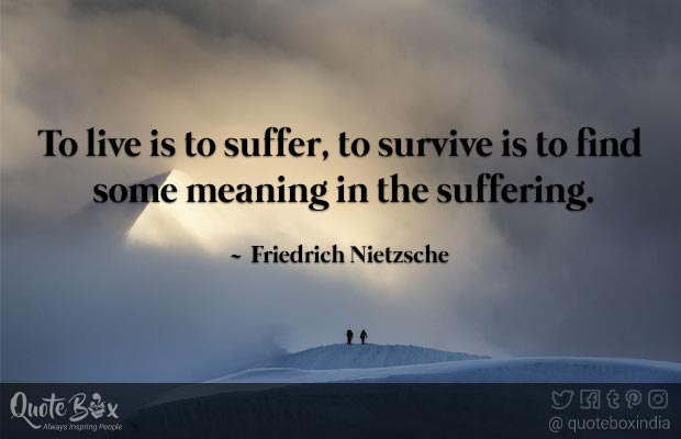 Quote Box On Twitter To Live Is To Suffer To Survive Is To Find