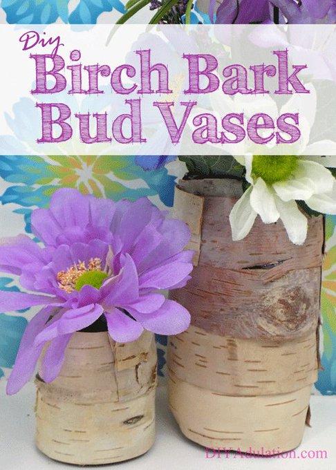 DIY Birch Bark Bud Vases + A Spring Giveaway