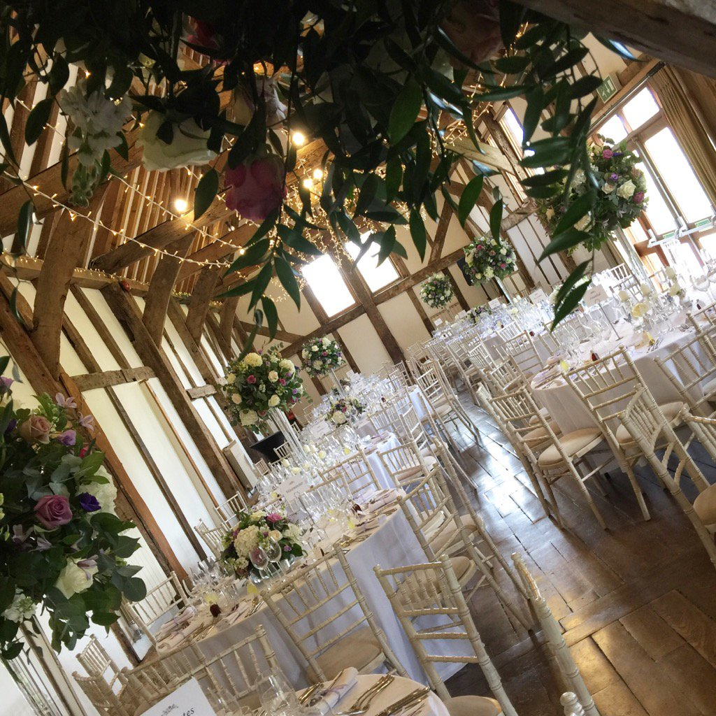 The #barn looking lovely @LoseleyPark @Loseleyevents for Saturday's #wedding thanks to @_whitelilac @OakwoodEventsUK