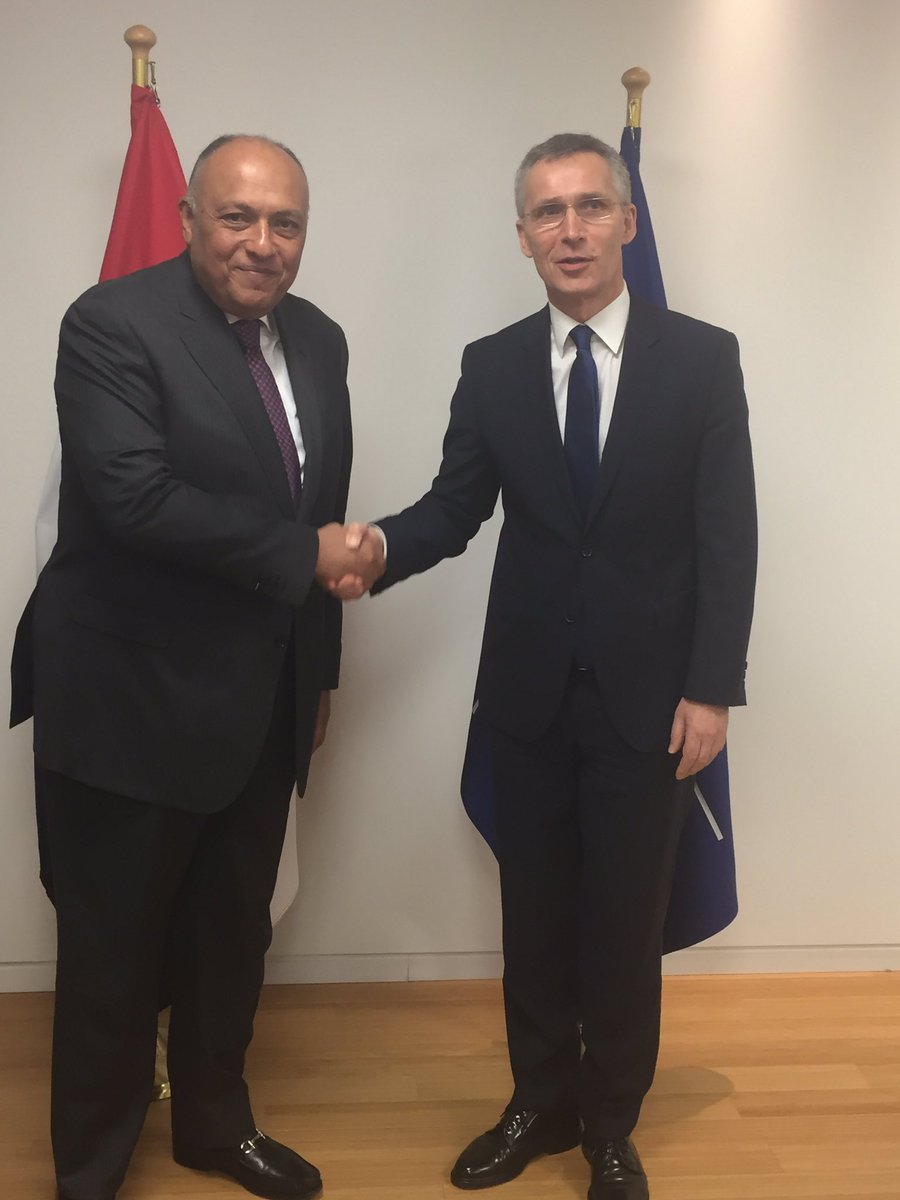 Egypt Minister Shoukry met Secretary General of @NATO in Brussels