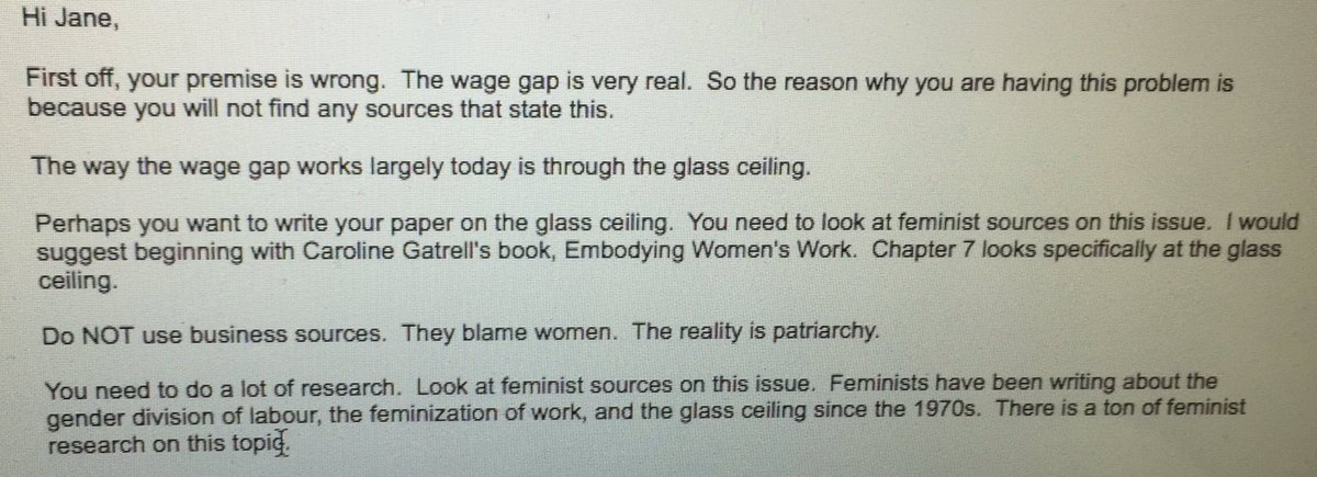 Josephine On Twitter I Told My Sister To Write An Essay On The  Josephine On Twitter I Told My Sister To Write An Essay On The Wage Gap  For Her Class  This Is Her Professors Reply