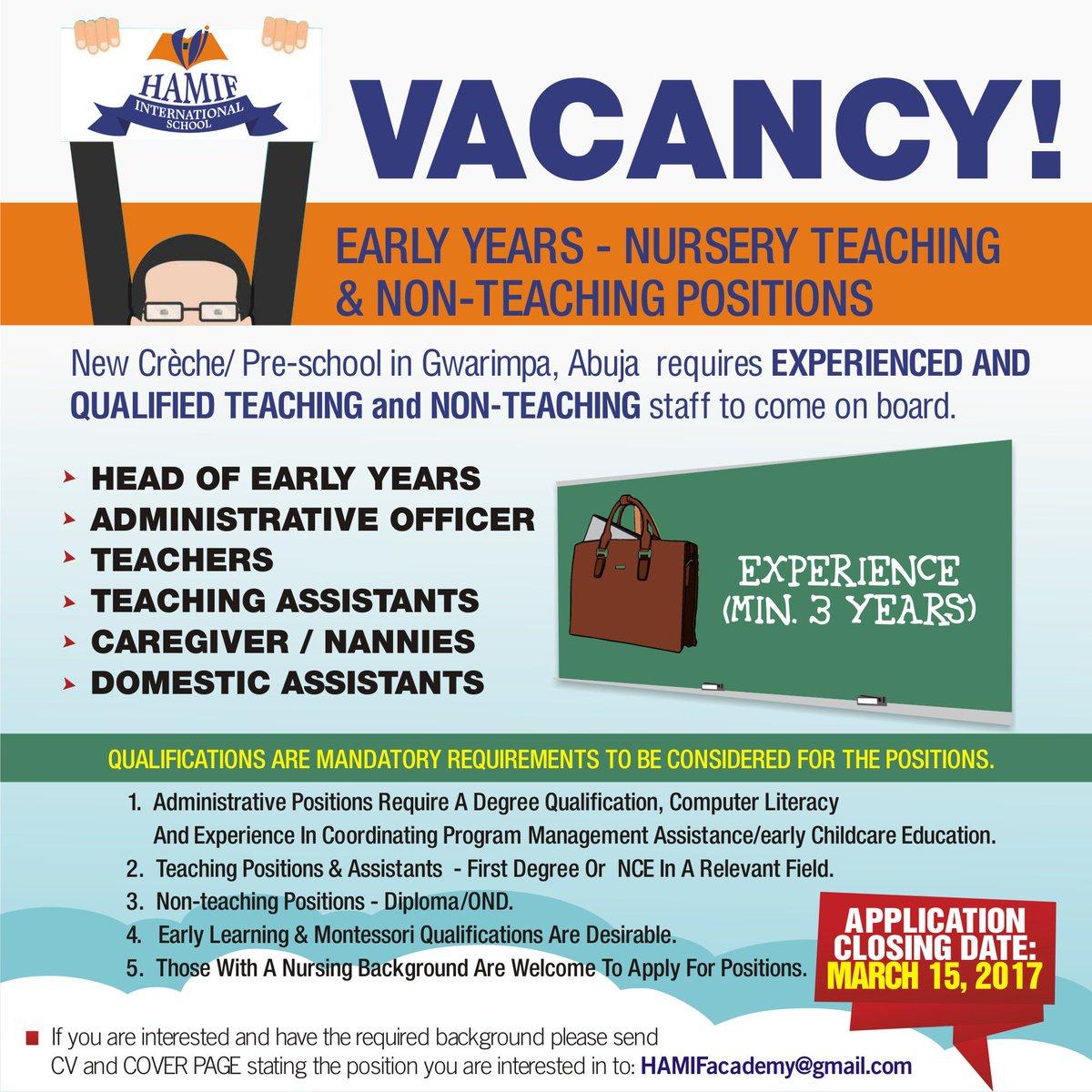 Hamif Academy On Twitter Job Vacancy