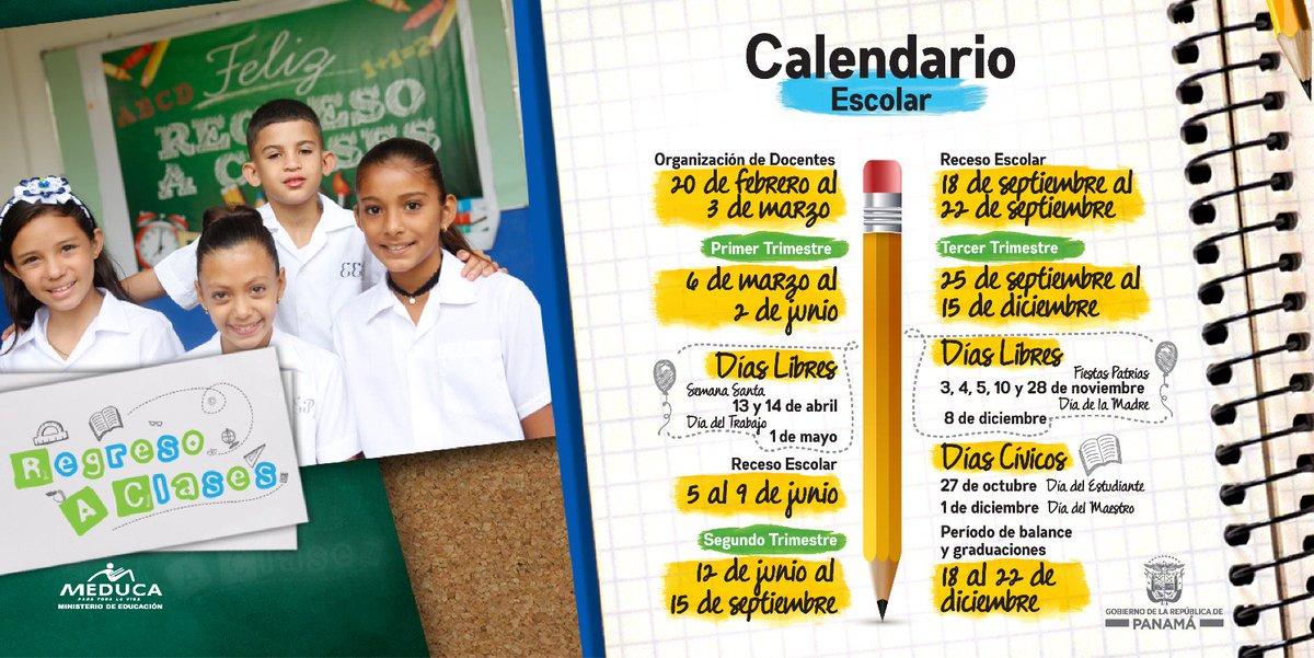 Calendario Escolar 2020 Panama Meduca.Calendario Escolar Ano Alaescuelavoy Tvn Panama Scoopnest