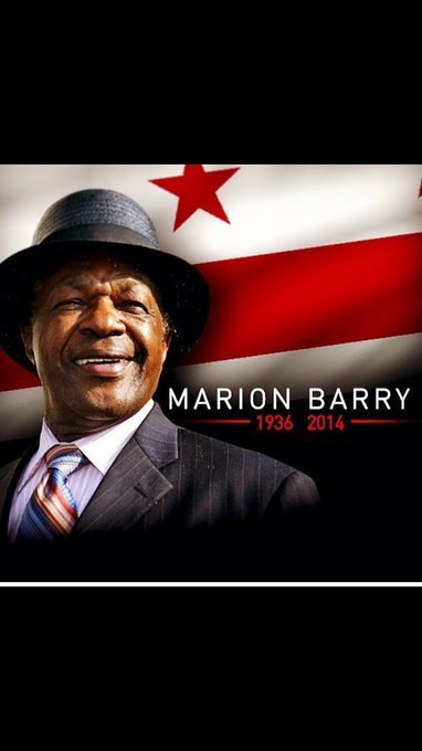 Happy Birthday to the Honorable Marion Barry! Rest well sir.