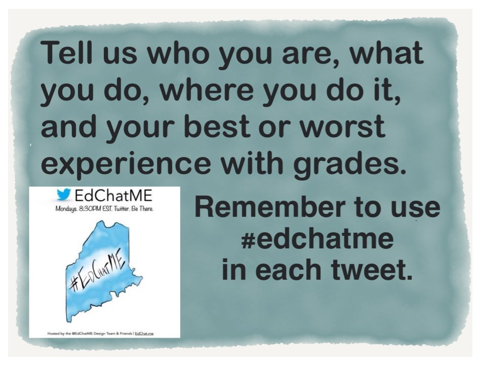 Tell us who you are, what you do, where you do it, & ur best/worst grade experience  #EdChatME https://t.co/okTL1rImWM