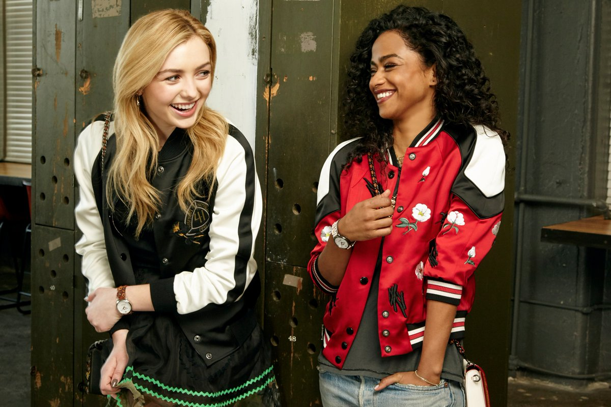Bomber jackets, two ways. @PeytonList and @Vashtie rock @Coach. #CoachSpring2017 #CoachModernMashup #partner