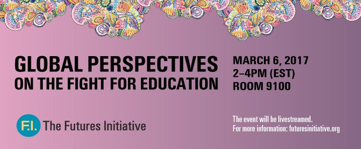TODAY: Join us for #fight4edu Global Perspectives on the Fight for Education 2-4pmEST. Come in person or livestream https://t.co/DtABPPP938 https://t.co/IK2drMDNWP