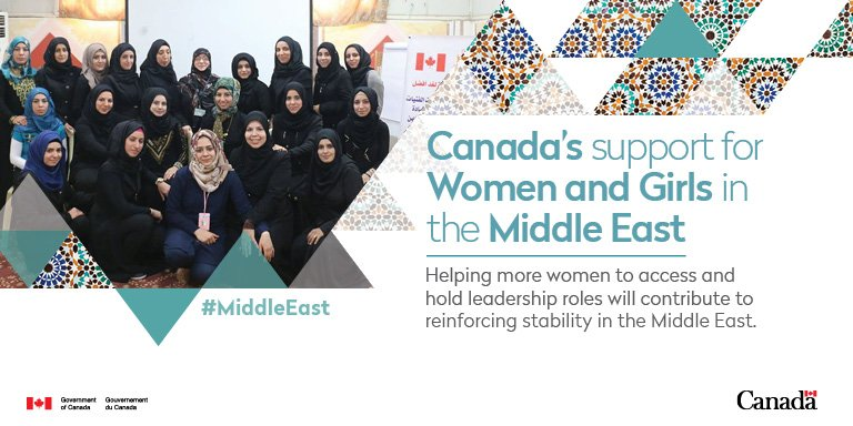 #Canada is proud to support women and girls in the #MiddleEast to become leaders in their communities https://t.co/GSNq35srDy #IWD2017 https://t.co/iqGaJWobay