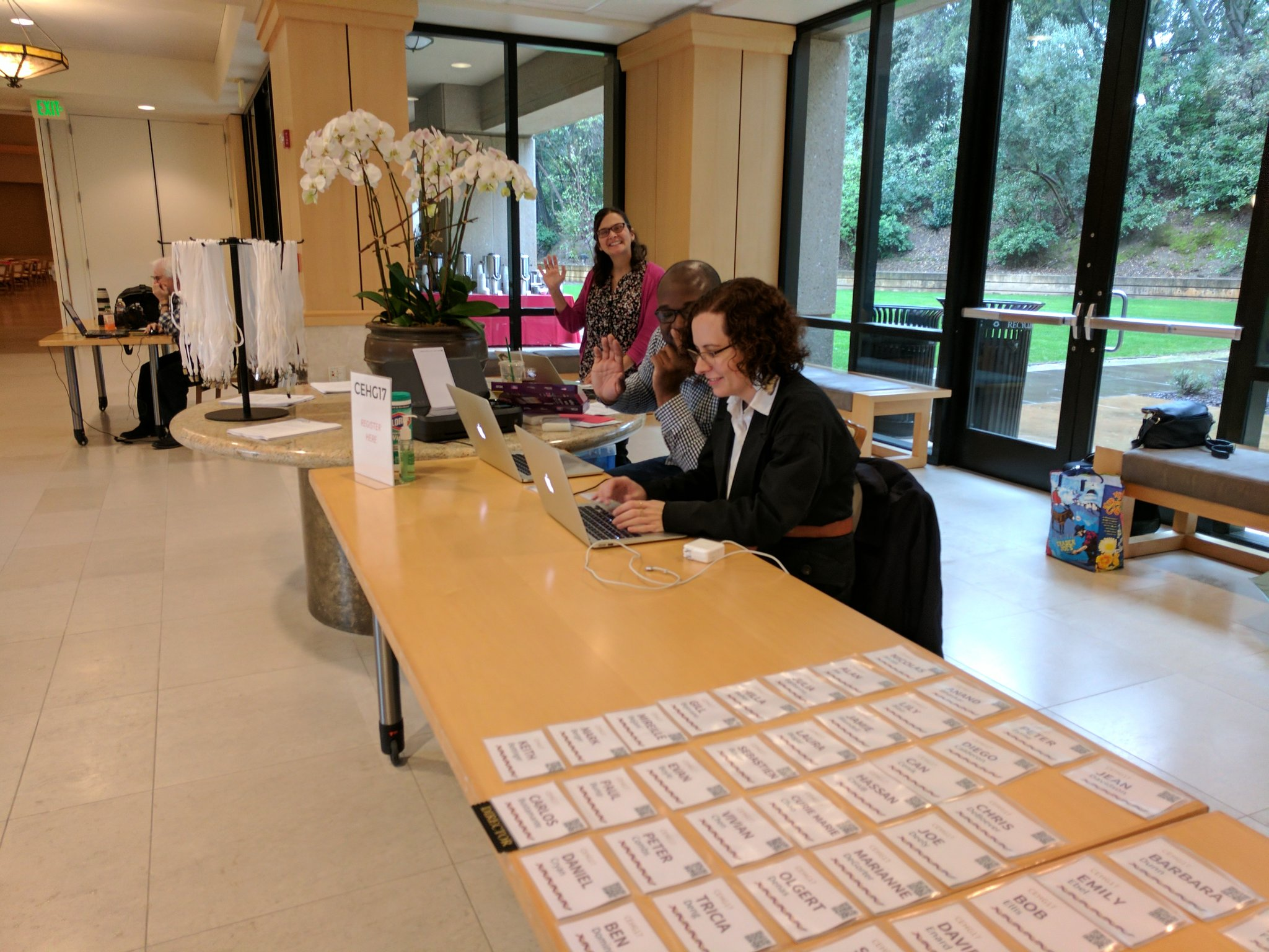 Registration boot ready to roll @StanfordCEHG #CEHG17 https://t.co/2bZ0Vd6EIY