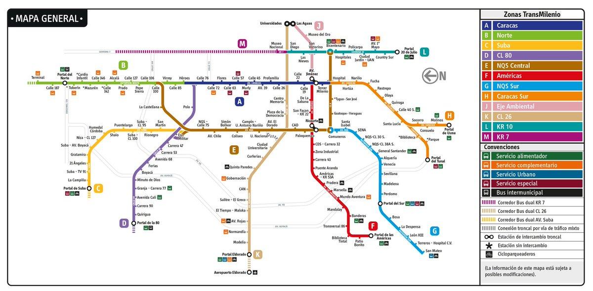 Transmilenio A Twitter Conoce El Mapa General Del Sistema Mas Informacion En Https T Co Tsw3iia2sc