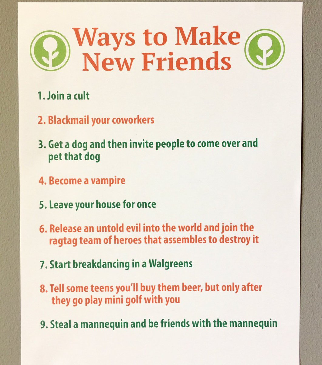 Get to know new friends