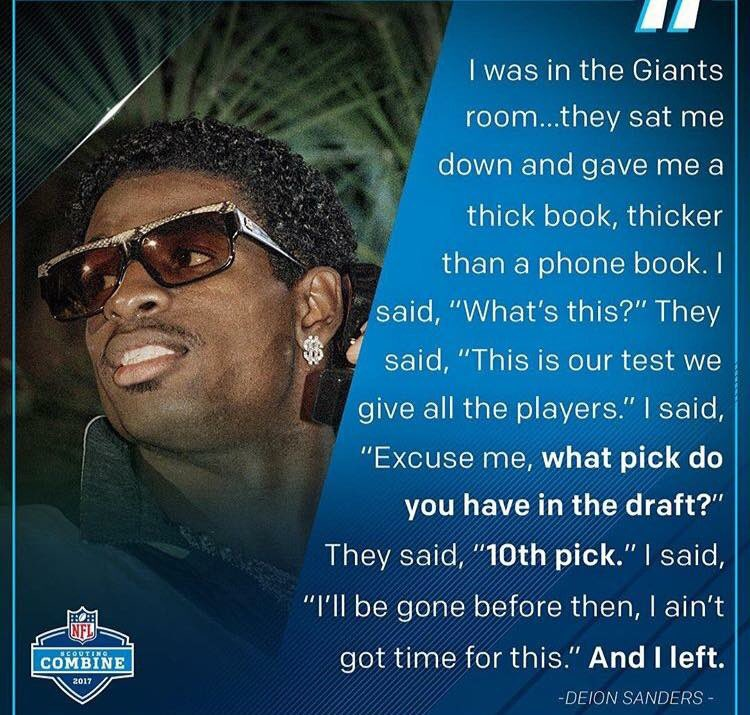 Tell me Deion Sanders ain't the realist  one, so we can fight. https://t.co/OxKZG8rxxB