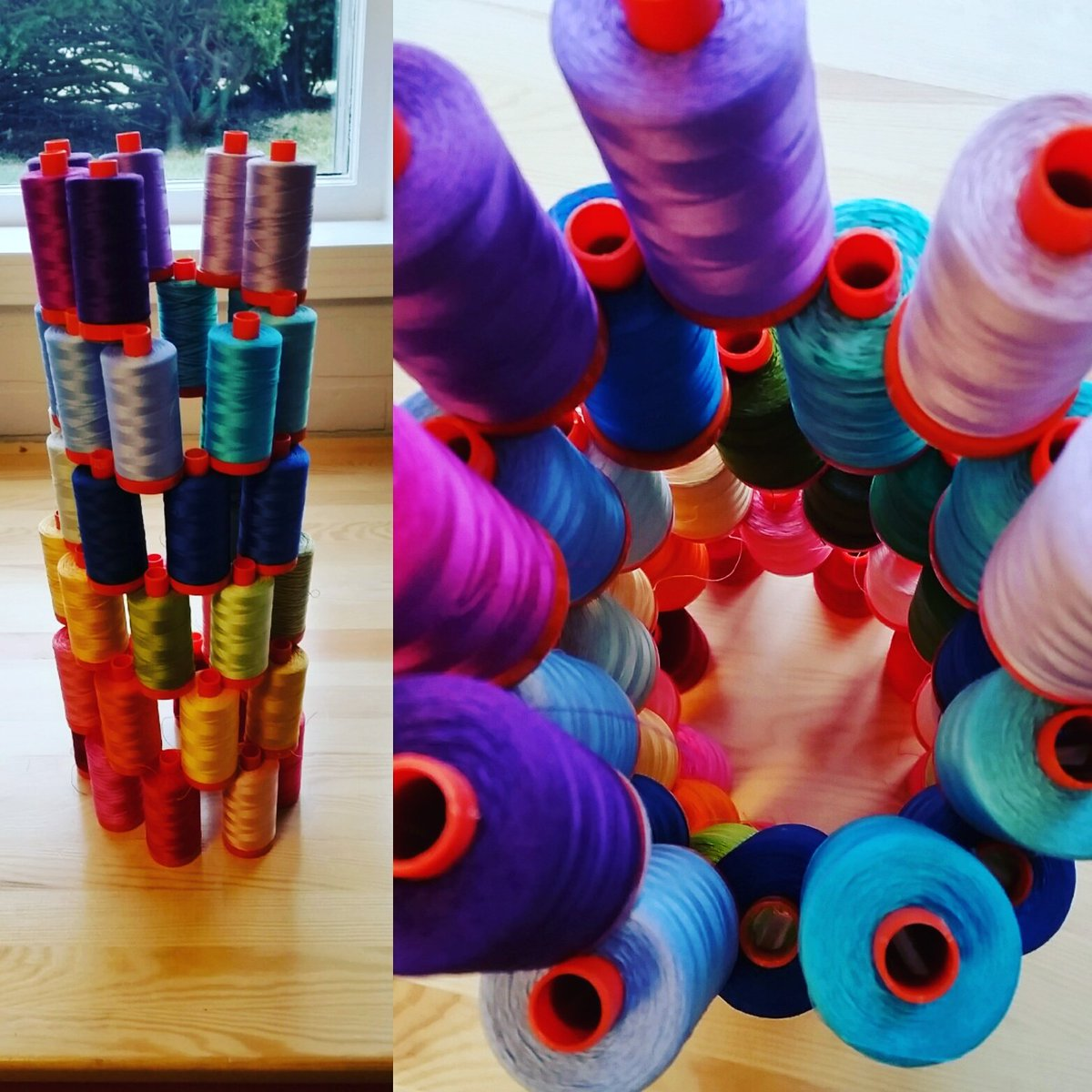 Tower of Aurifil Thread by Erin Davis Sew at Home Mummy