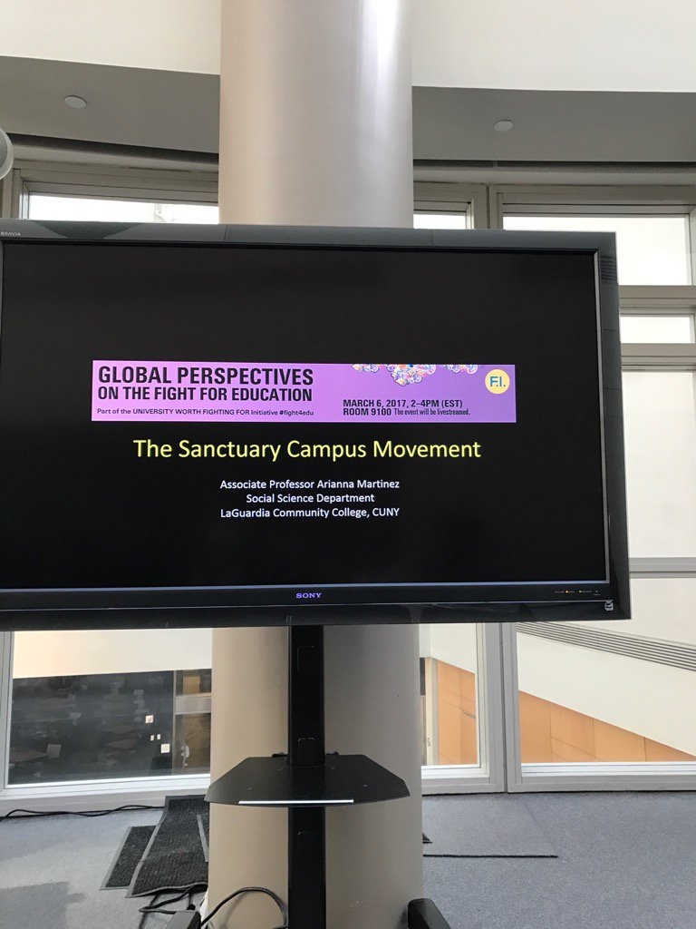 """Perspective of geographer: """"everything is contested resolution inc university"""". #sanctuary #fight4edu #futuresed https://t.co/0prwLojfch"""