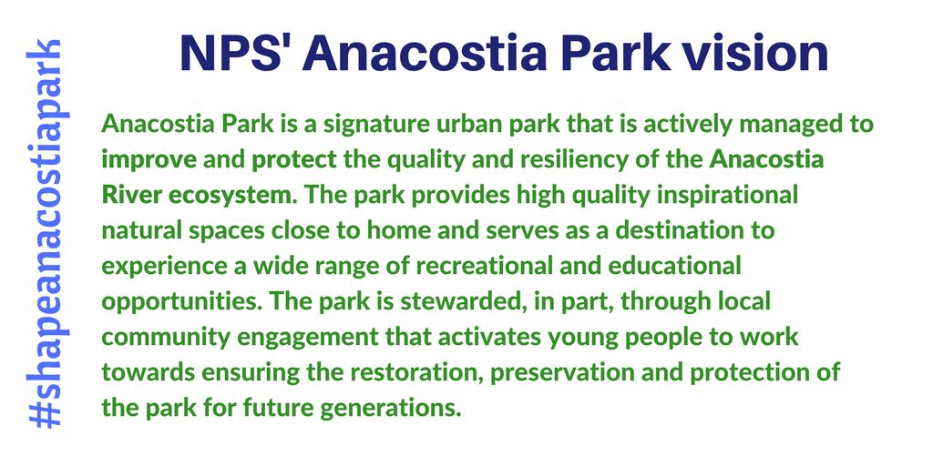 Early in the meeting, Super. Tara Morrison shared @AnacostiaNPS vision. Check it out.  #shapeanacostiapark https://t.co/CTXc5t69xy