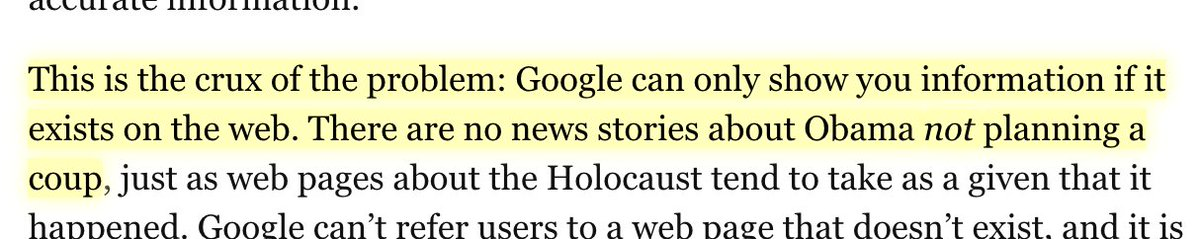 good description of, and the limits of, Google Epistemology https://t.co/bmInnEekAa https://t.co/wVsGTLx7B6