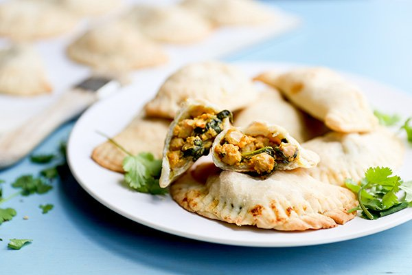 Vegan Sweet Potato, Chickpea & Spinach Empanadas