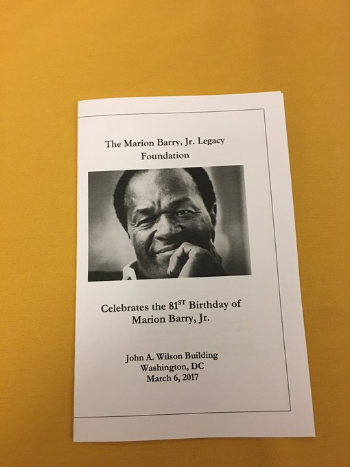 Happy 81st Birthday Mayor for Life-Marion Barry, Jr.
