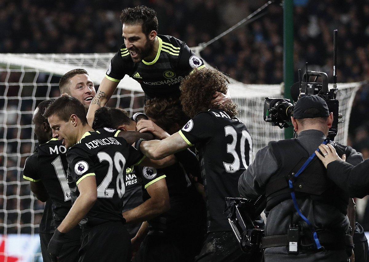 Full-time: West Ham 1-2 Chelsea! Three points secured with goals from @hazardeden10 and @diegocosta! #WHUCHE