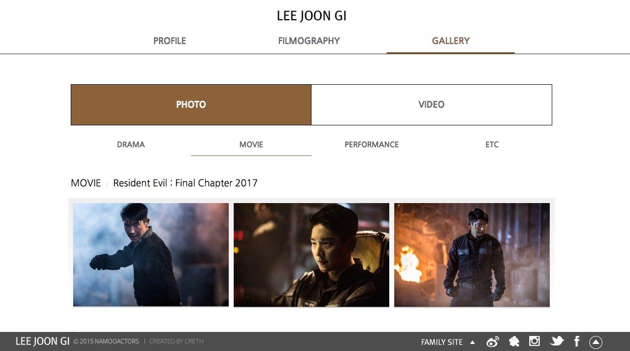 Hajunse Lee Jun Ki On Twitter Movie Resident Evil Final