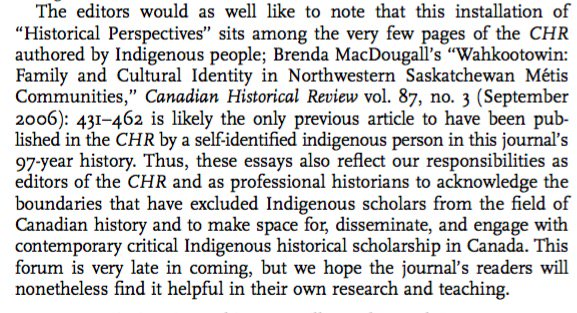 Kudos to the editors for putting this forum together but also for acknowledging this shameful truth about Canadian history's leading journal https://t.co/gMHvmvZo1q