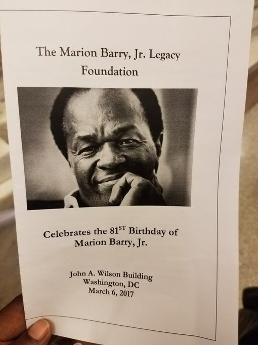 Happy birthday Marion Barry.  What a privilege to be your successor.