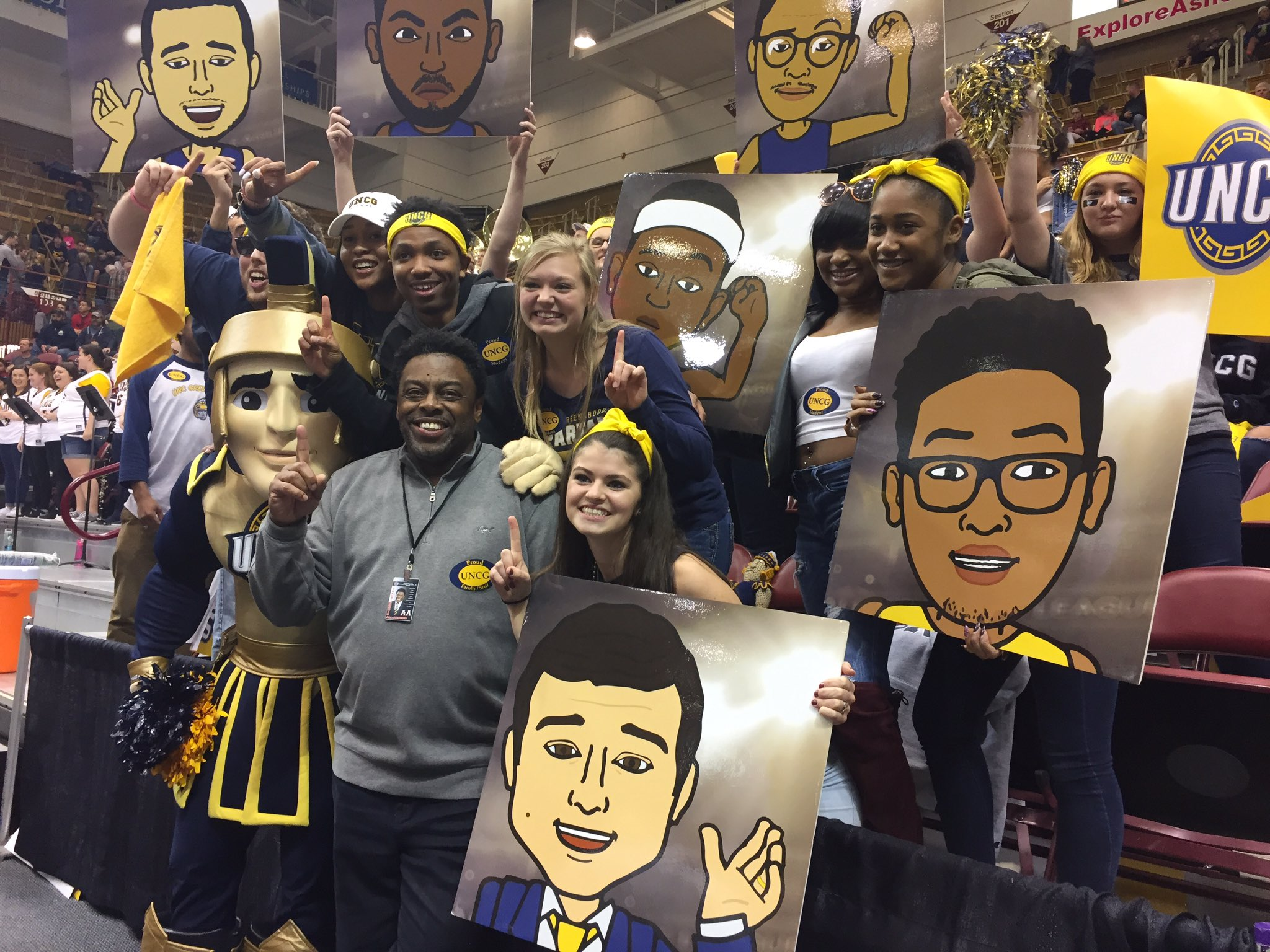 #chancellorgilliam with the best @uncg fans!!! #letsgoG #uncg @uncgsports https://t.co/jXixzUD6D5
