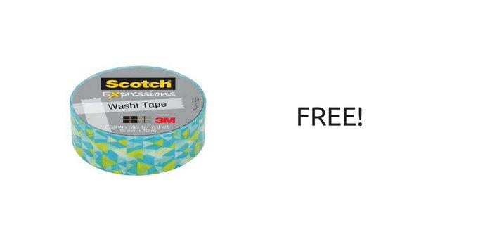 FREE Scotch Expressions Washi Tape!