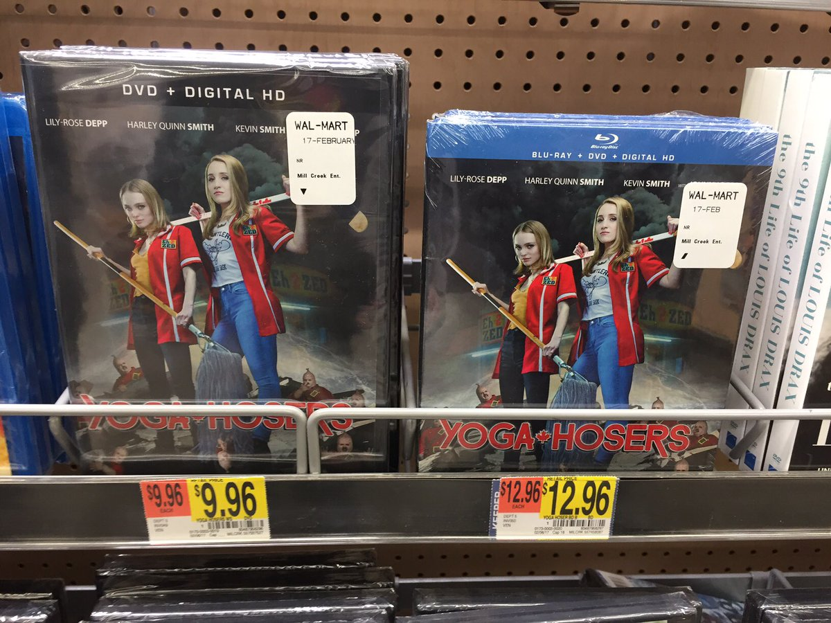"Via @GBealionare96 ""why your movies on blu ray so hard to find?"" If you go to @Walmart you can find @YogaHosers on sale pretty cheaply. https://t.co/BJBKuWrMsV"
