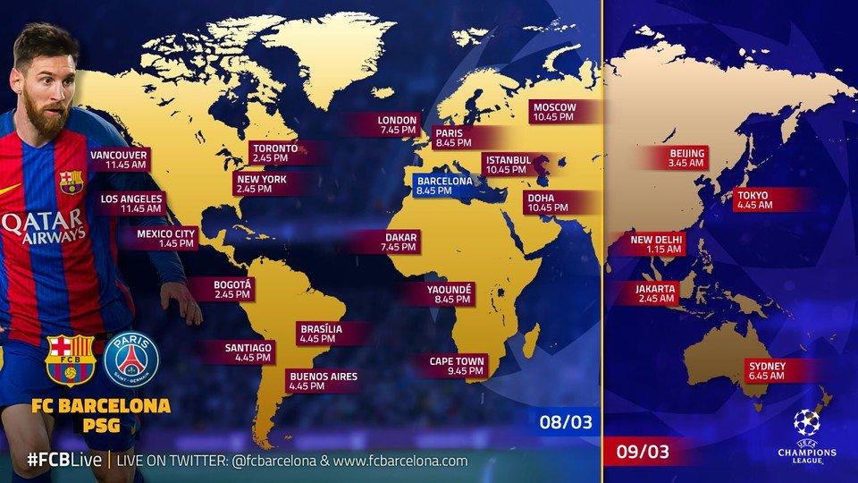 «Барселона»— ПСЖ: прогноз наматч 08.03.2017, смотреть онлайн, где трансляция