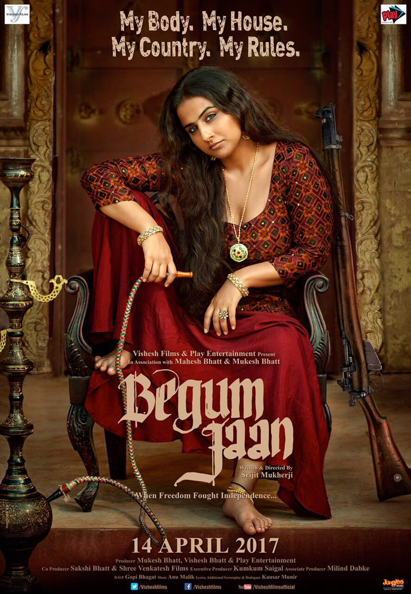 First Look Poster of Begum Jaan starring Vidya Balan