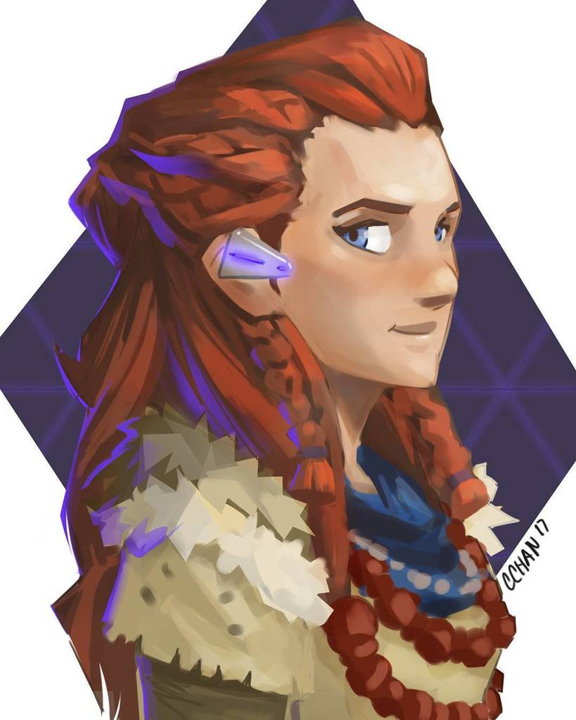 Christina Chan On Twitter Aloy I Ve Been Enjoying Horizon Zero Dawn Too Much Horizonzerodawn Aloy Art Photosho Https T Co J2vdckboto