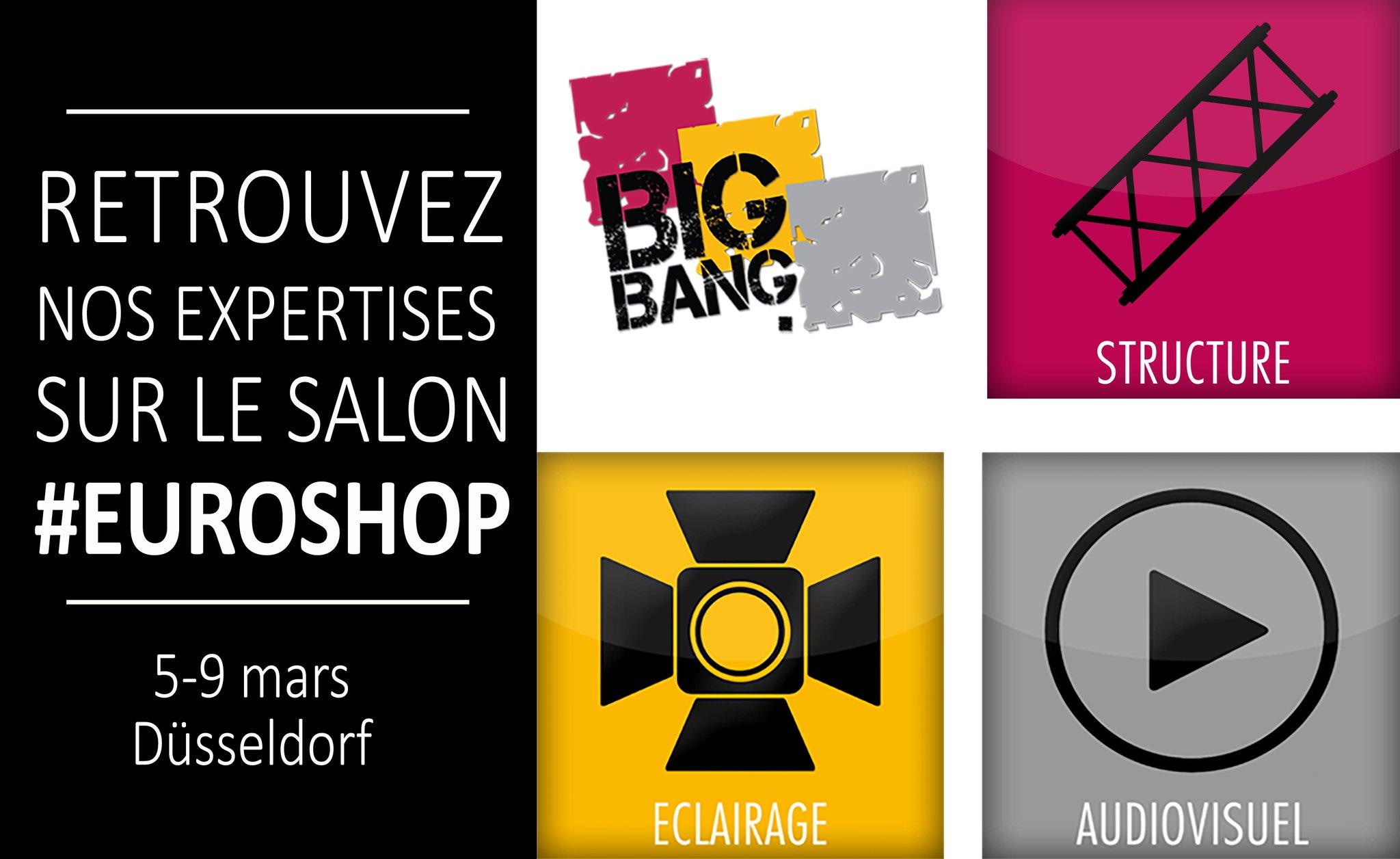 Big Bang accompagne ses clients sur @EuroShop ! Vous avez jusqu'au 9 mars pour visiter le #salon ! #eventprofs #éclairage #audiovisuel https://t.co/NC92K4Hnhi