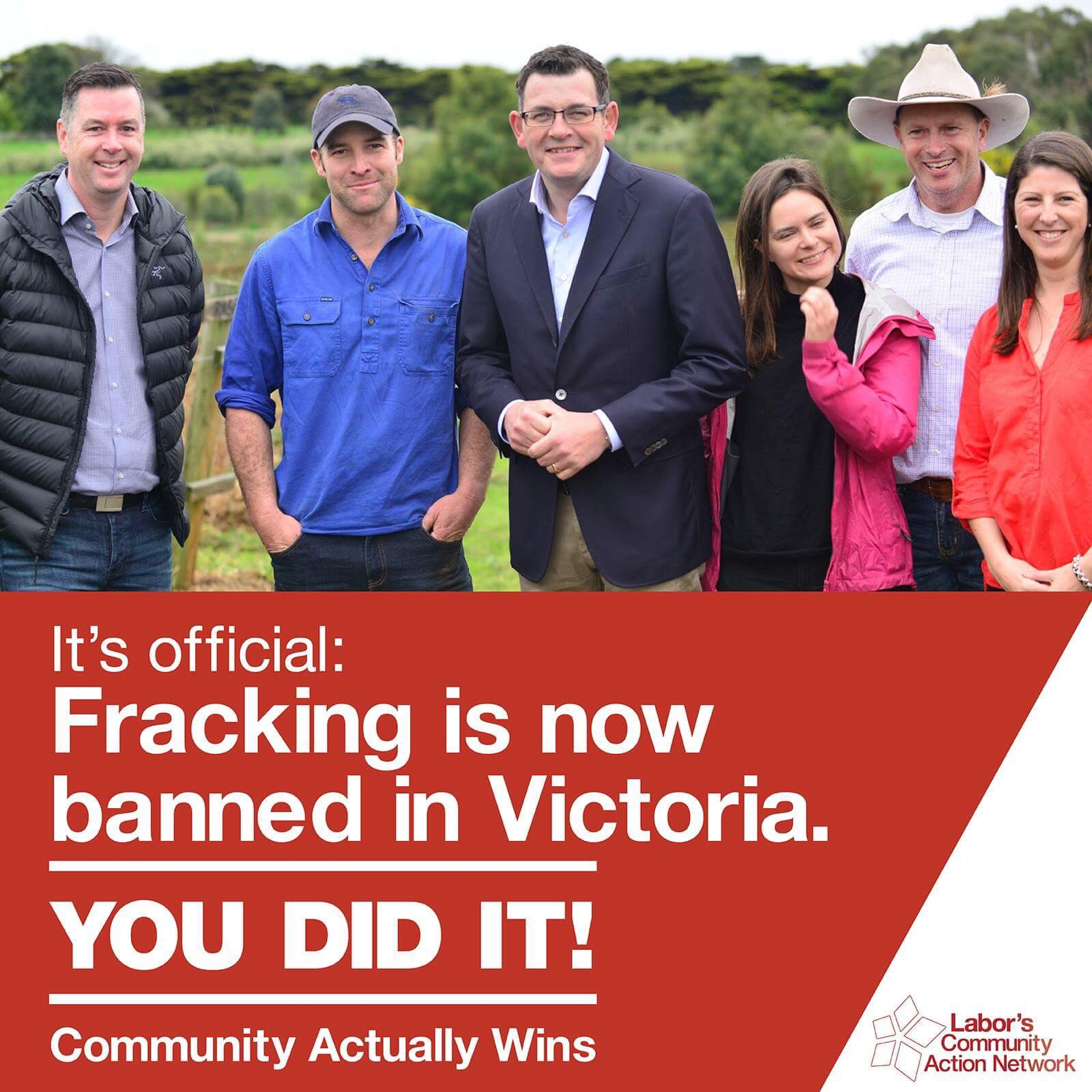 You did it! Fracking Banned in Victoria #thisislabor https://t.co/dqSM6v2Rlj