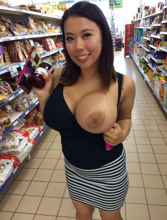 Big boobs out in public