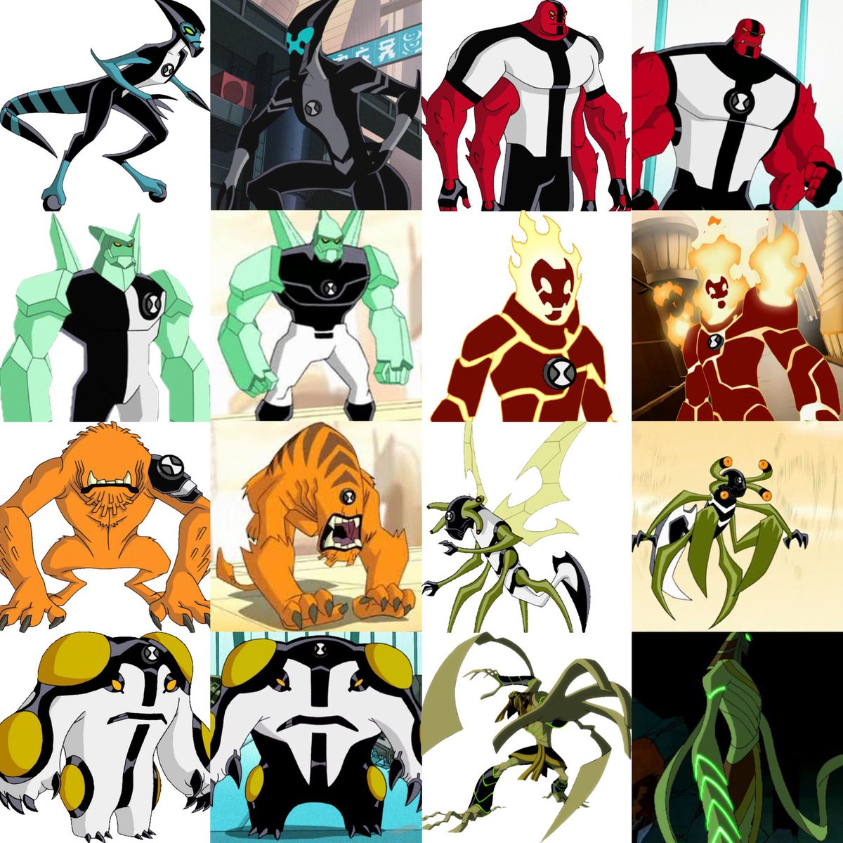 "Ben 10000 Ultimate Alien: Ben Tennyson On Twitter: ""All Ben 10000 Aliens With Their"