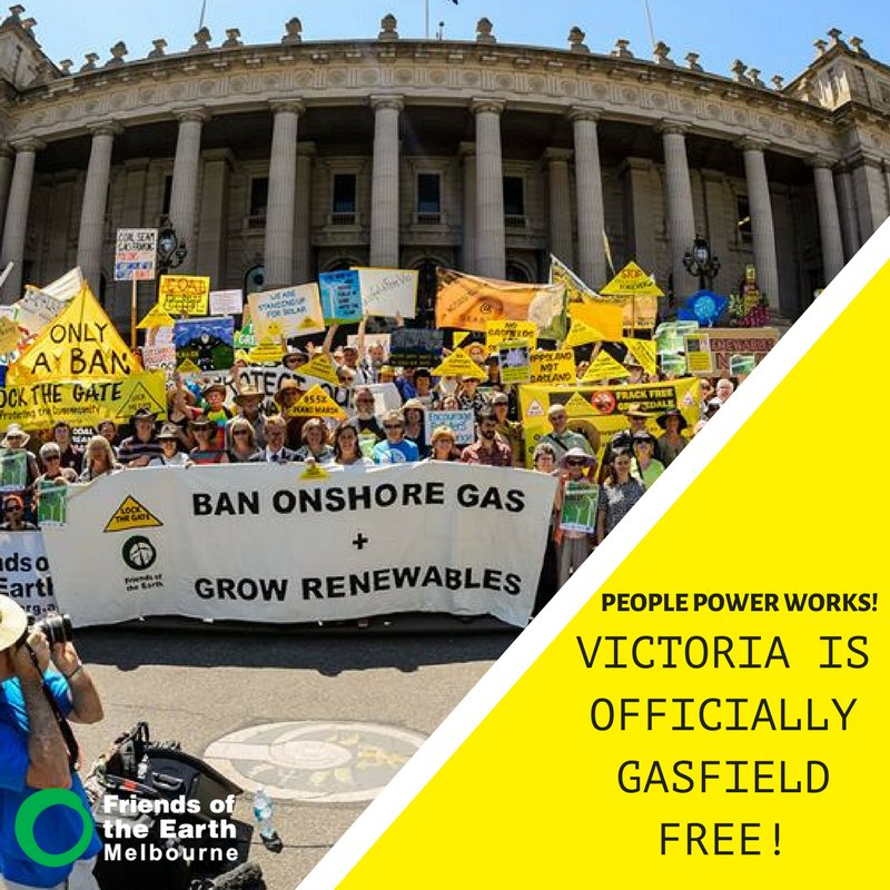 BREAKING: Vic passes #VicGasBan law to become Australia's first frack free state! READ MORE>> https://t.co/8EqdkP1Dur #SpringSt #Auspol https://t.co/aOIFqZjICD